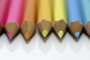 Several colored pencils