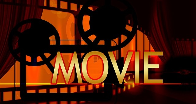 image of movie film and the word movie