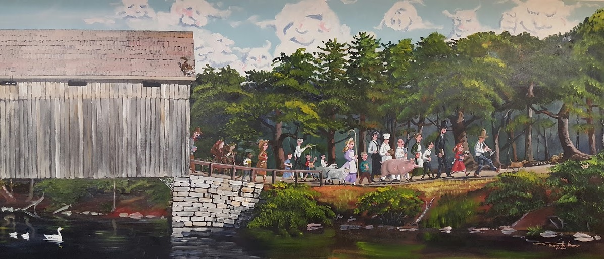 mural of childrens' book characters