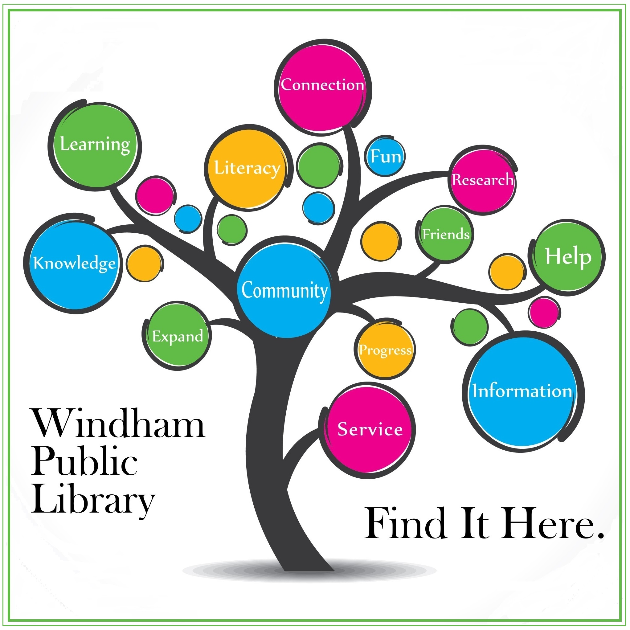 Windham Public Library logo