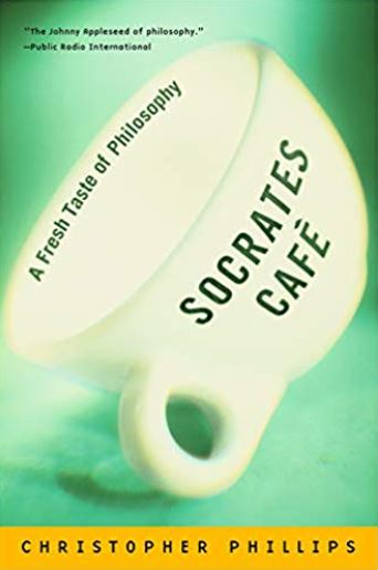 cup with the text Socrates Cafe on it