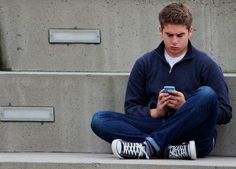 texting person